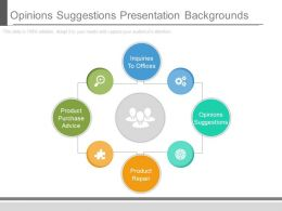 Opinions Suggestions Presentation Backgrounds