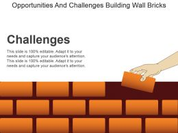 Opportunities And Challenges Building Wall Bricks Sample Of Ppt Presentation