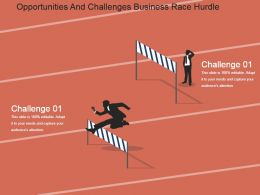 Opportunities And Challenges Business Race Hurdle Sample Ppt Presentation