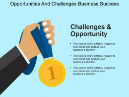 Opportunities And Challenges Business Success Powerpoint Templates