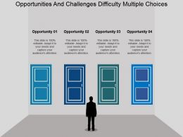 Opportunities And Challenges Difficulty Multiple Choices Powerpoint Presentation
