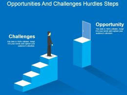 Opportunities And Challenges Hurdles Steps Powerpoint Shapes