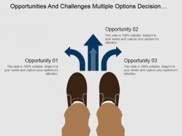 Opportunities And Challenges Multiple Options Decision Making Powerpoint Slides