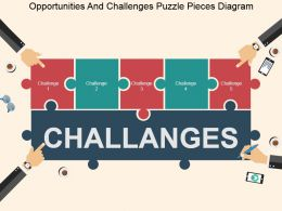 Opportunities And Challenges Puzzle Pieces Diagram Powerpoint Slide Designs