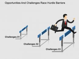Opportunities And Challenges Race Hurdle Barriers Powerpoint Slide Designs