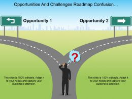 Opportunities And Challenges Roadmap Confusion Decision Making Ppt Design