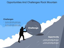 Opportunities And Challenges Rock Mountain Powerpoint Slide Inspiration