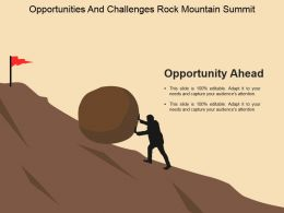 Opportunities And Challenges Rock Mountain Summit Ppt Example