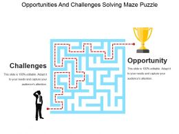 Opportunities And Challenges Solving Maze Puzzle Powerpoint Slide Rules