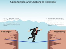 Opportunities And Challenges Tightrope Powerpoint Slide Themes