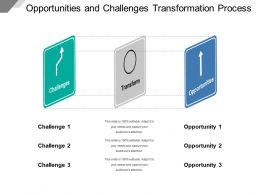 Opportunities And Challenges Transformation Process