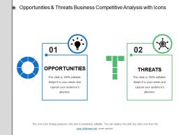 Opportunities And Threats Business Competitive Analysis With Icons