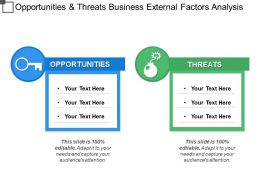 Opportunities And Threats Business External Factors Analysis