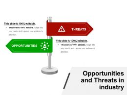 Opportunities And Threats In Industry Presentation Deck