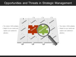Opportunities And Threats In Strategic Management Presentation Ideas