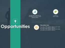 Opportunities Description H42 Ppt Powerpoint Presentation Pictures Graphics Design