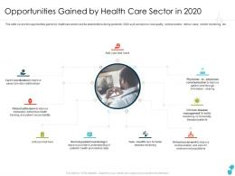 Opportunities Gained By Health Care Sector In 2020 Disease Ppt Information