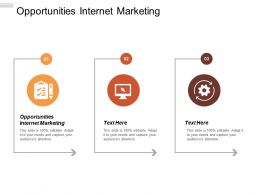 Opportunities Internet Marketing Ppt Powerpoint Presentation Infographics Brochure Cpb