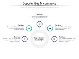 Opportunities M Commerce Ppt Powerpoint Presentation Styles Sample Cpb