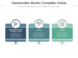 Opportunities Monitor Competitor Activity Ppt Powerpoint Presentation Professional Cpb