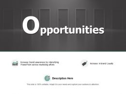 Opportunities Target Marketing Ppt Powerpoint Presentation Pictures Skills