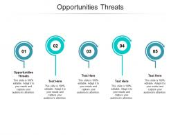 Opportunities Threats Ppt Powerpoint Presentation Gallery File Formats Cpb
