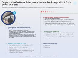 Opportunities To Make Safer More Sustainable Transit Operations Ppt Powerpoint Portfolio
