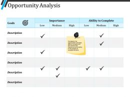 Opportunity Analysis Powerpoint Ideas