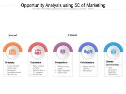 Opportunity Analysis Using 5c Of Marketing