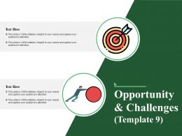 Opportunity And Challenges Powerpoint Slide Background Image