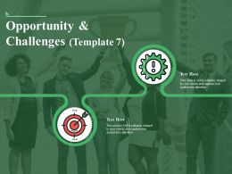 Opportunity And Challenges Ppt Sample Presentations