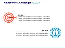 Opportunity And Challenges Ppt Summary Background Images