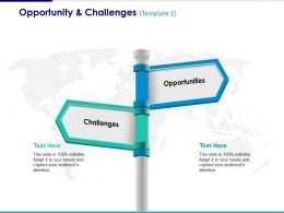 Opportunity And Challenges Ppt Summary Example Topics