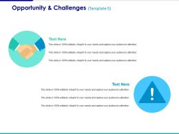 Opportunity And Challenges Ppt Summary Influencers
