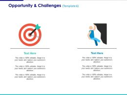 Opportunity And Challenges Ppt Summary Infographic Template