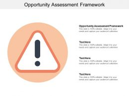 Opportunity Assessment Framework Ppt Powerpoint Presentation Icon Background Images Cpb