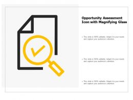 Opportunity Assessment Icon With Magnifying Glass