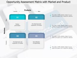 Opportunity Assessment Matrix With Market And Product