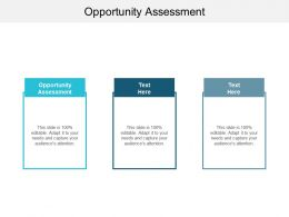 Opportunity Assessment Ppt Powerpoint Presentation Icon Backgrounds Cpb