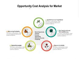 Opportunity Cost Analysis For Market