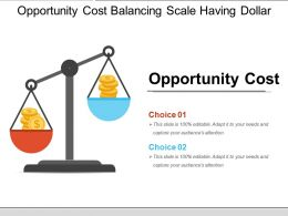 Opportunity Cost Balancing Scale Having Dollar