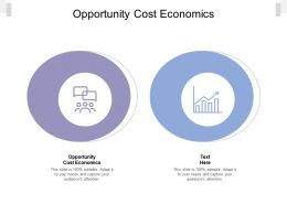 Opportunity Cost Economics Ppt Powerpoint Presentation Show Icons Cpb