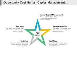 Opportunity Cost Human Capital Management Company Performance Indicators