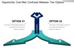 Opportunity Cost Man Confused Between Two Options