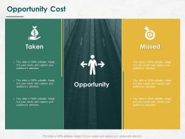 Opportunity Cost Management Ppt Powerpoint Presentation Styles Slideshow