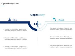 Opportunity Cost Ppt Powerpoint Presentation Designs