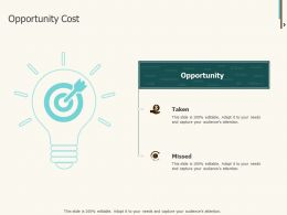 Opportunity Cost Taken Ppt Powerpoint Presentation Infographics Brochure