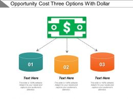 Opportunity Cost Three Options With Dollar