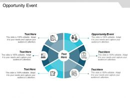 Opportunity Event Ppt Powerpoint Presentation Icon Design Templates Cpb