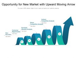 Opportunity For New Market With Upward Moving Arrow